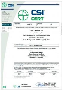 Joll Graf certificazione